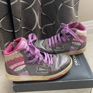 Geox Girls J Mania G.A. Geobuck High Top Shoe